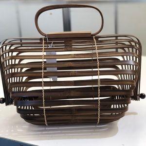 Handbags - BAMBOO COLLAPSIBLE TOP HANDLE BAG